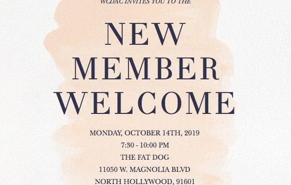 2019 New Member Welcome invitation image